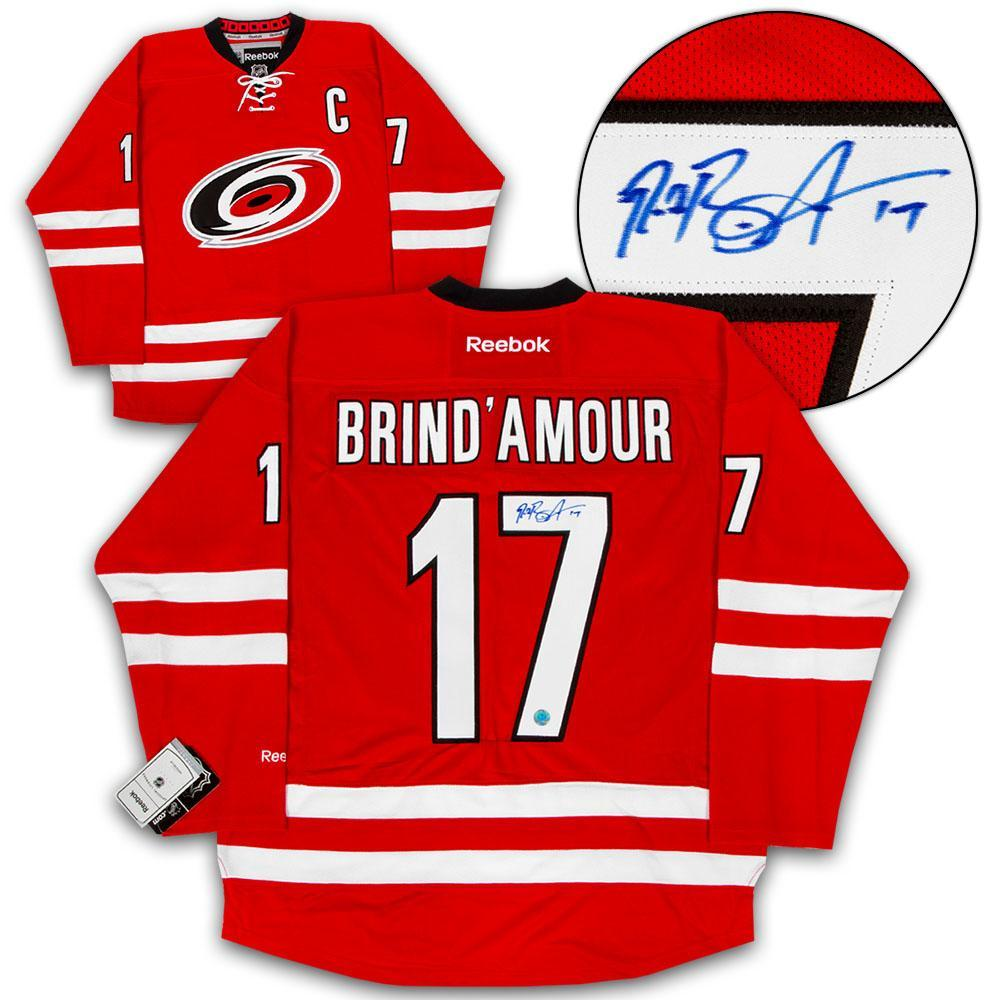 Rod Brind'Amour Carolina Hurricanes Autographed Reebok Premier Hockey Jersey