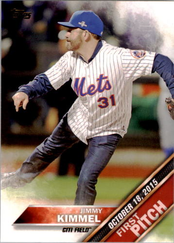 Photo of 2016 Topps First Pitch #FP2 Jimmy Kimmel S2