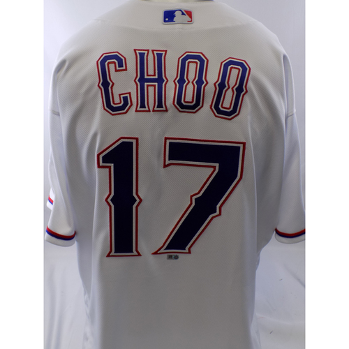 Photo of Game-Used White Shin-Soo Choo Jersey - 9/12/19