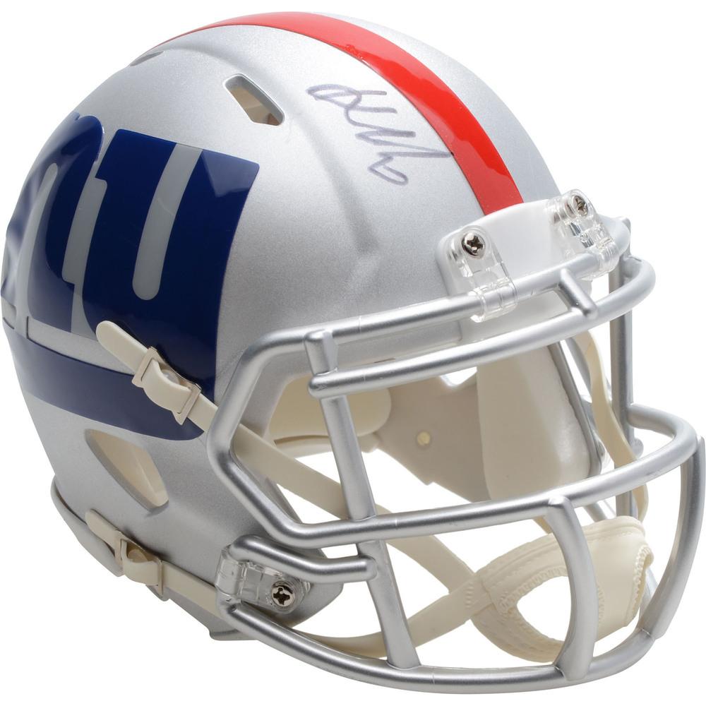 Kaapo Kakko New York Rangers Autographed New York Giants AMP Alternation Revolution Speed Mini Football Helmet