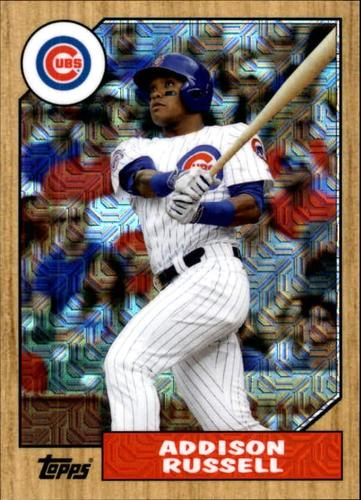 Photo of 2017 Topps '87 Topps Silver Pack Chrome #87ARU Addison Russell