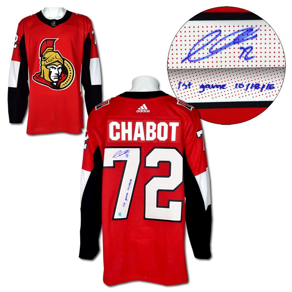 Thomas Chabot Ottawa Senators Signed & Dated 1st Game Adidas Authentic Jersey