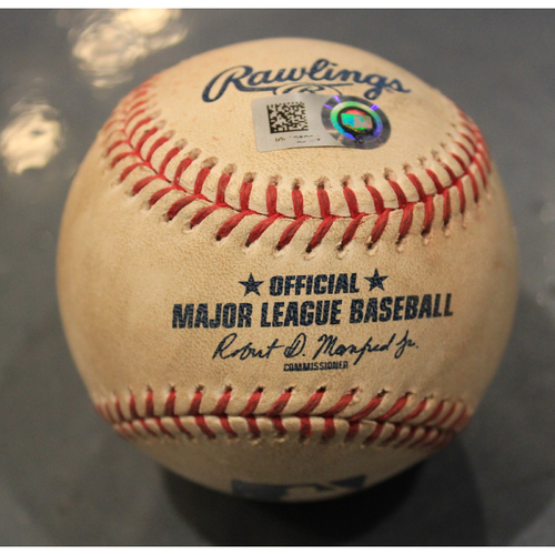 Photo of Game-Used Baseball: Spencer Turnbull Pitched Strikeout to Cheslor Cuthbert (DET @ KC - 6/11/19)