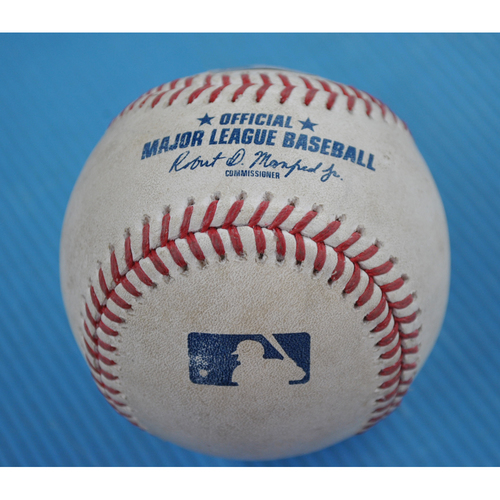 Photo of Game-Used Baseball - 2020 NLDS - Los Angeles Dodgers vs. San Diego Padres - Game 3 - Pitcher: Dustin May, Batter: Fernando Tatis Jr. (Walk) - Bot 1