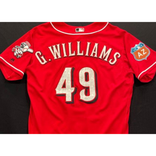 Photo of G. WILLIAMS -- Authentic Reds Jersey -- $1 Jersey Auction -- $5 Shipping -- Size 48 (Not MLB Authenticated)