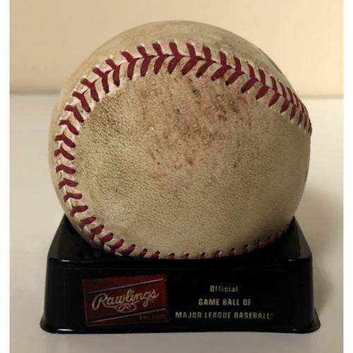 2020 Game Used Baseball - Luke Weaver vs. Mookie Betts - Ball (Changeup) - 8/1 vs. LAD
