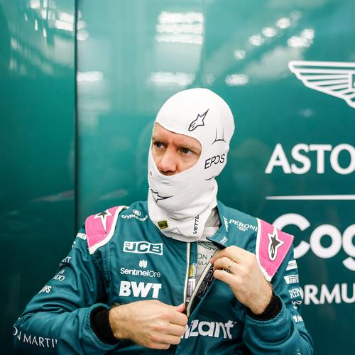 Photo of Sebastian Vettel 2021 Signed Race Used Balaclava - US GP