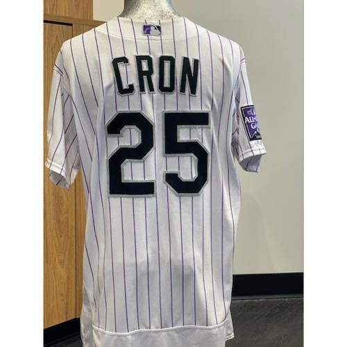 Photo of 2021 Game-Used CJ Cron Jersey - 6 Games, 1 Walk-Off, 13 Hits, 1 Grand Slam, 1 Homerun, 11 RBI's.