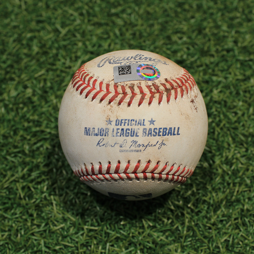 Photo of Game-Used Baseball: Shane Bieber 663rd Career Strikeout (CLE@KC 9/30/21)