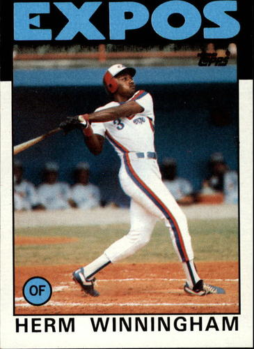 Photo of 1986 Topps #448 Herm Winningham