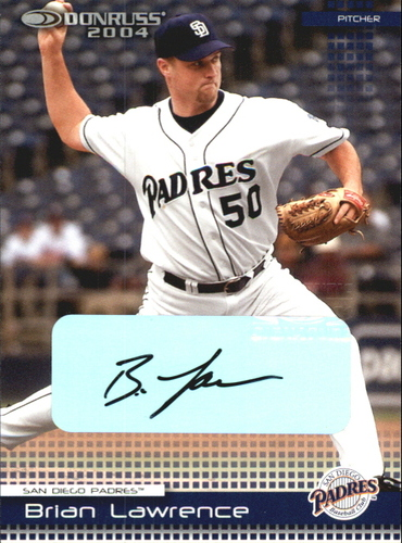 Photo of 2004 Donruss Autographs #349 Brian Lawrence