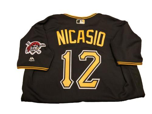 #12 Juan Nicasio Game-Used Black Alternate Jersey - Worn on 4/11/17 and 4/24/17