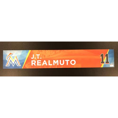 J.T. Realmuto Game-Used Locker Tag