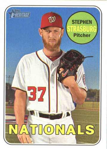 Photo of 2018 Topps Heritage #92 Stephen Strasburg