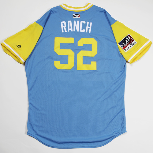 "Photo of Chaz ""Ranch"" Roe Tampa Bay Rays Game-Used 2018 Players' Weekend Jersey"