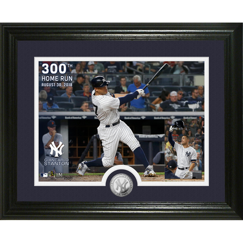Photo of Giancarlo Stanton 300th Career Homerun  Silver coin Photo Mint