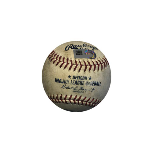 Photo of Game-used Baseball: 9/23/2017 Wainwright vs. Mercer, Cole, Frazier - Single by Mercer, Sac Bunt by Cole, Single by Frazier