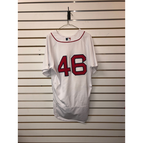 Photo of Craig Kimbrel Game Used August 16, 2017 Home Jersey