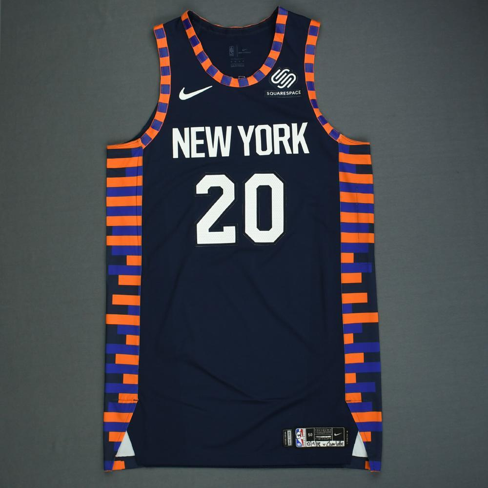 promo code ae5d5 8015b Kevin Knox - New York Knicks - Game-Worn City Edition Jersey ...