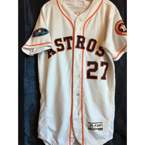 Photo of Jose Altuve 2018 Game-Used ALDS/ALCS Jersey
