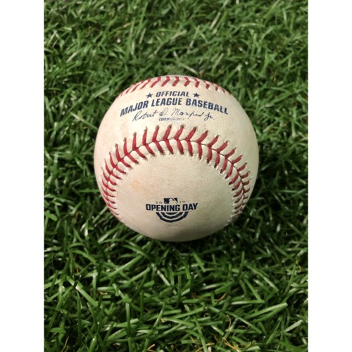Photo of Opening Day Game-Used Baseball: Yuli Gurriel single off Blake Snell - March 28, 2019 v HOU