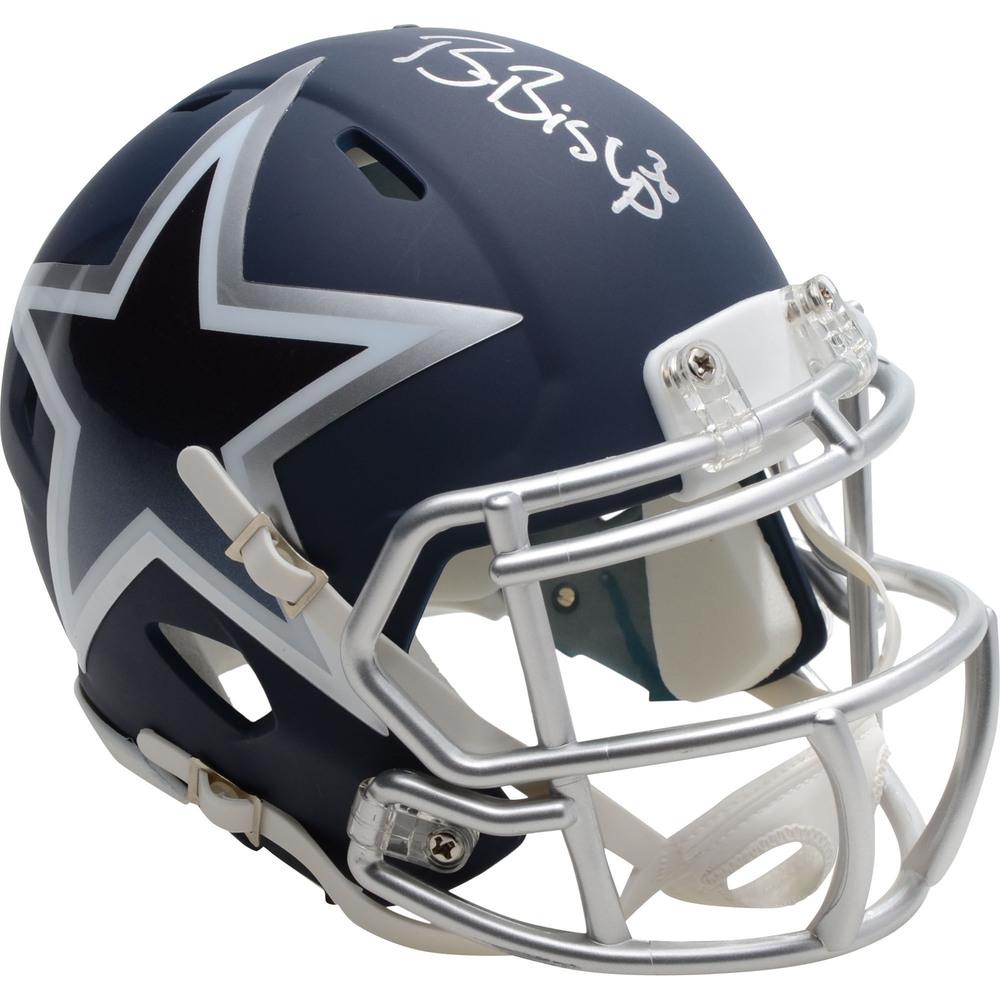 Ben Bishop Dallas Stars Autographed Dallas Cowboys Mini Helmet