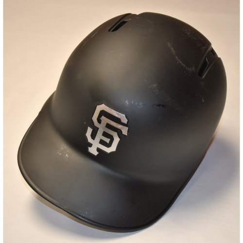 "Photo of Alex ""Grandpa"" Dickerson San Francisco Giants Game-Used 2019 Players' Weekend Helmet"