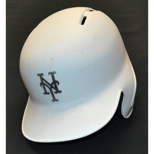 "Photo of Todd ""TODDFATHER"" Frazier New York Mets Game-Used 2019 Players' Weekend Helmet"