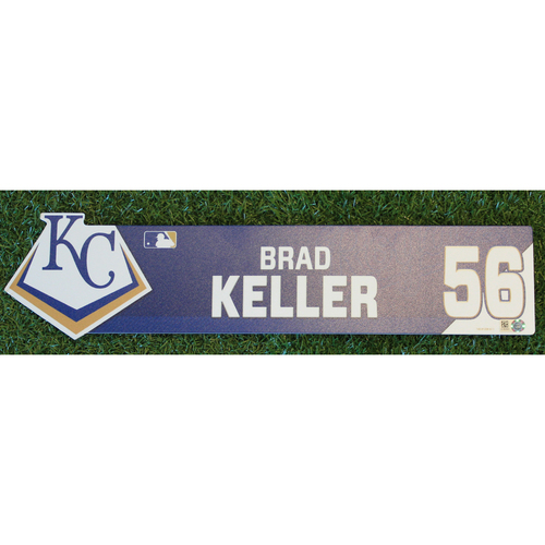 Photo of Game-Used Locker Nameplate: Brad Keller (CWS @ KC - 7/16/19)