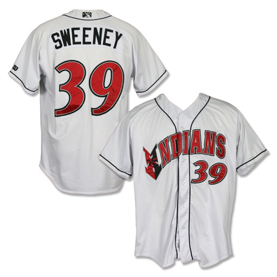 #39 Darnell Sweeney Autographed Game Worn Home White Jersey