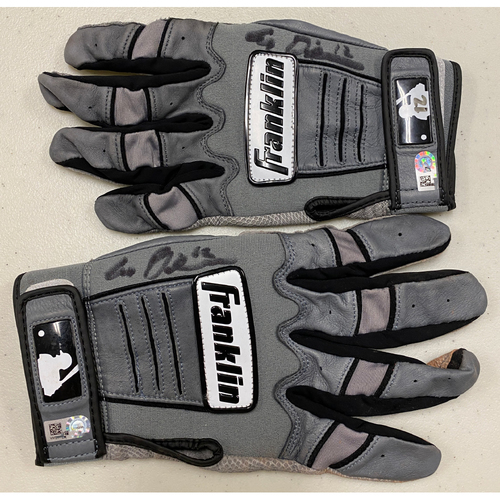 Photo of 2020 Cyber Monday Sale - #12 Alex Dickerson Autographed Gray Franklin Batting Gloves
