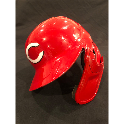 Photo of Michael Lorenzen -- 2020 Game-Used Helmet -- Worn for Only Plate Appearance of Season on Sept. 1 vs. Cardinals -- Helmet Scheduled to Arrive Prior to Dec 24
