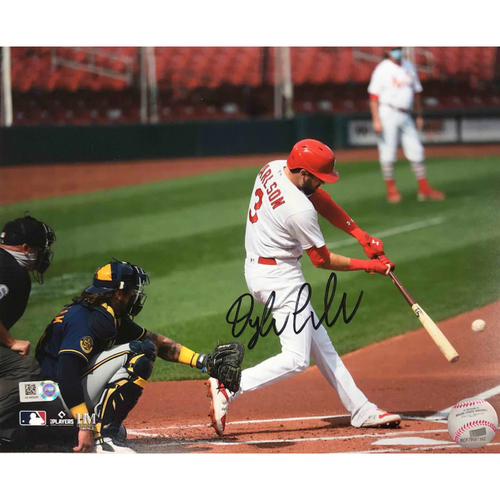 Photo of Cardinals Authentics: Dylan Carlson Autographed Batting Photo