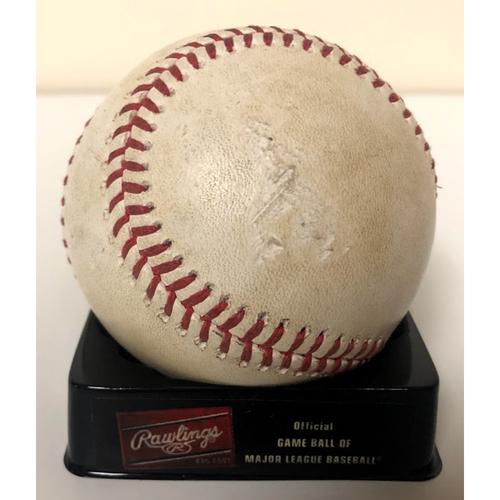 2020 HOME RUN Game Used Baseball - Frankie Montas vs. Kole Calhoun  - 8/18 vs. OAK