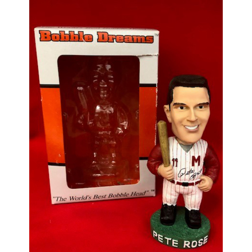 Photo of Pete Rose 1962 Peaches Autographed Bobblehead