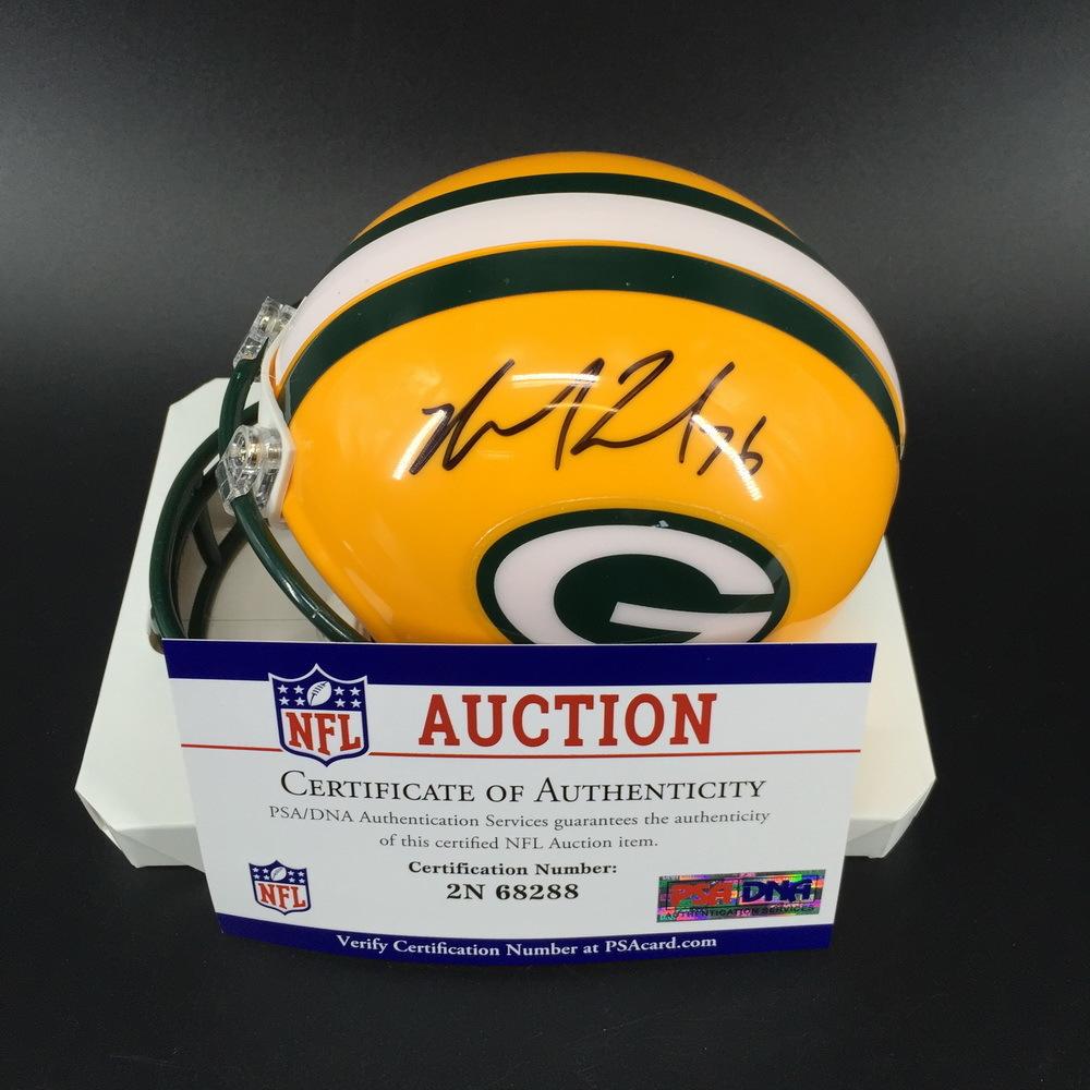 PCF - Packers Mike Daniels Signed Mini Helmet