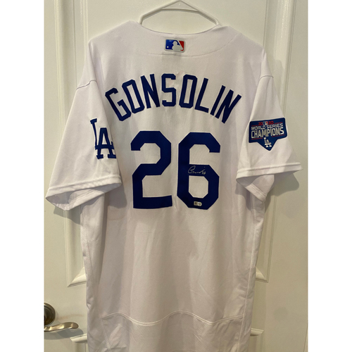 Photo of Tony Gonsolin Authentic Autographed Los Angeles Dodgers Jersey
