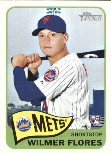 Photo of 2014 Topps Heritage #H578 Wilmer Flores RC