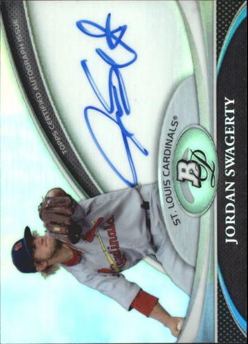 Photo of 2011 Bowman Platinum Prospect Autograph Refractors #JSW Jordan Swagerty