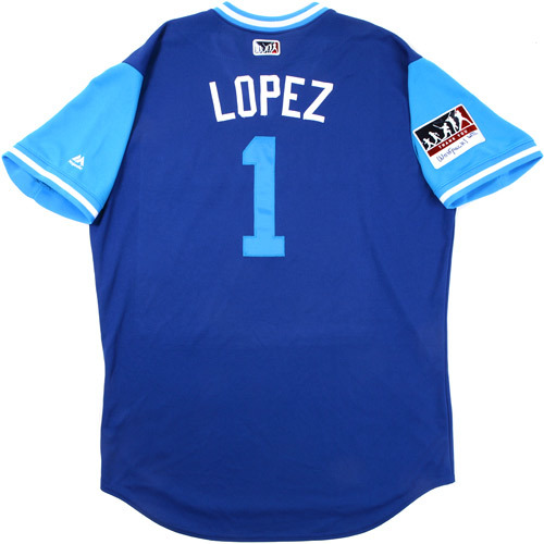 "Photo of Raffy ""Lopez"" Lopez Toronto Blue Jays 2017 Game-Used Players Weekend Jersey"