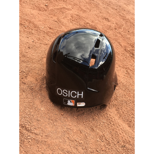 Photo of San Francisco Giants - 2017 Team-Issued Spring Training Helmet - #61 Josh Osich - Size 7 3/8