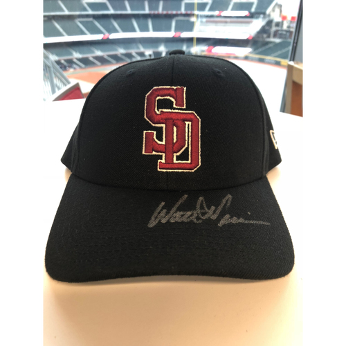 Photo of Walt Weiss Autographed, Game-Worn Stoneman Douglas Eagles Cap