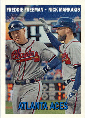 Photo of 2016 Topps Heritage #396 Freddie Freeman/Nick Markakis