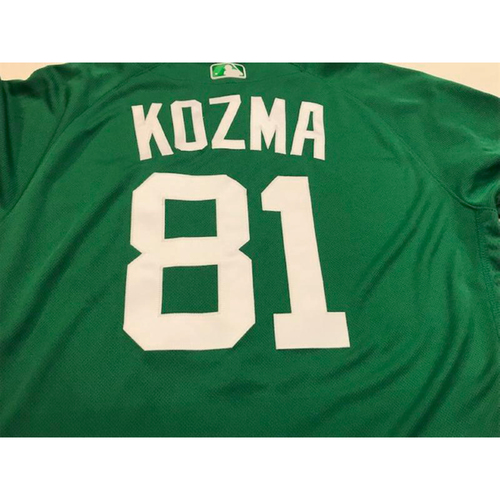Photo of Game-Used St. Patrick's Day Jersey: Pete Kozma