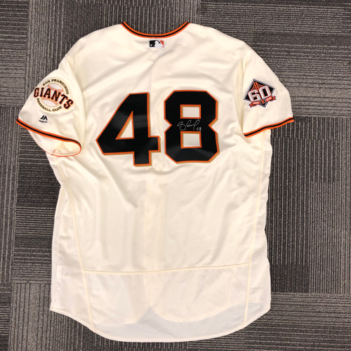 Photo of 2018 Holiday Deal! - 2018 Team Issued Autographed Jersey - #48 Pablo Sandoval - Size 52