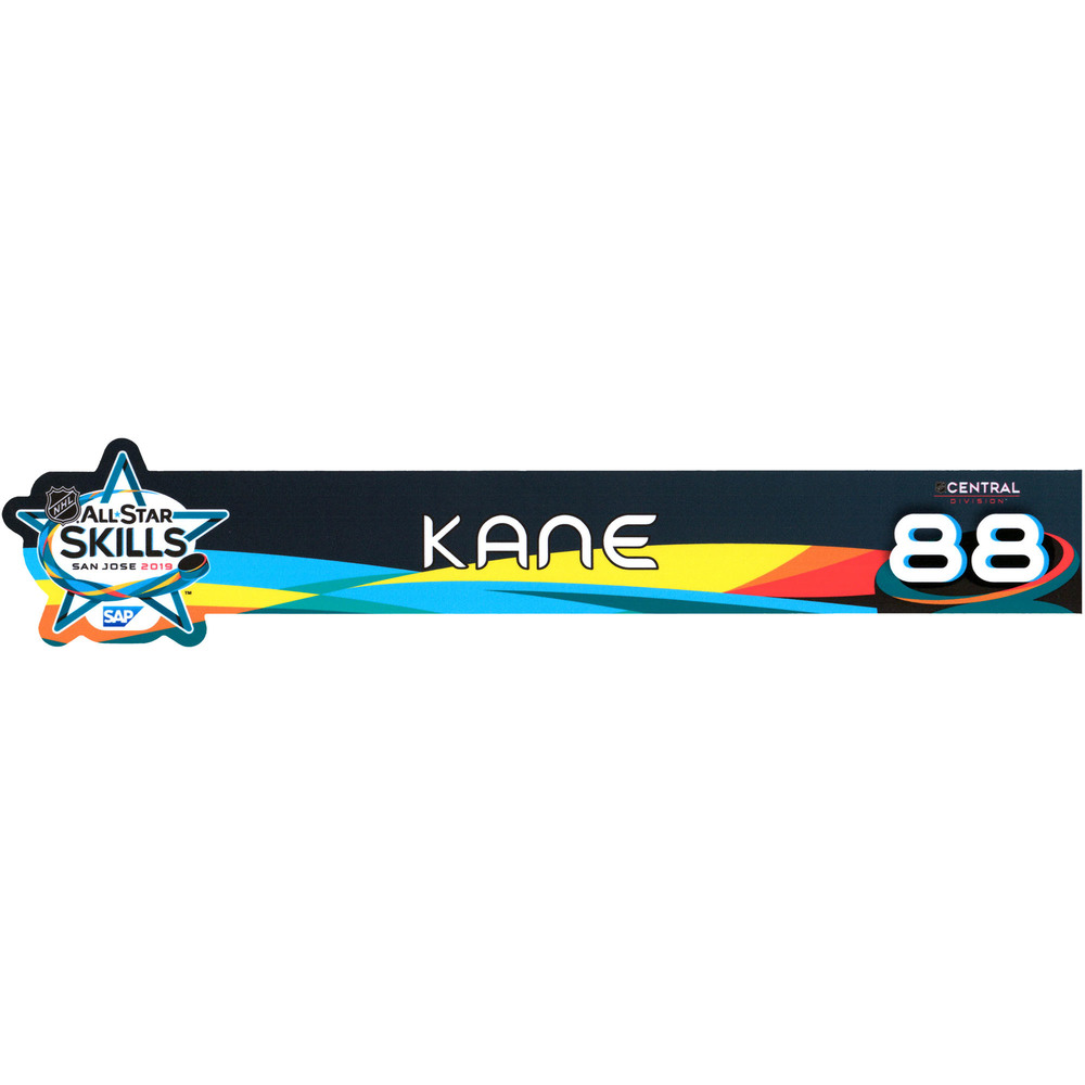 Patrick Kane Chicago Blackhawks Player-Issued #88 Locker Nameplate from All-Star Skills Competition