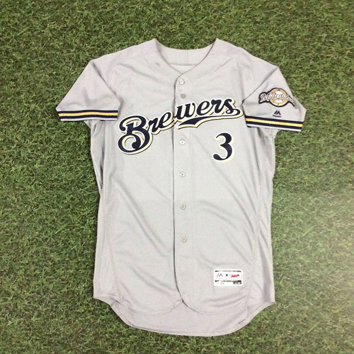 Photo of Orlando Arcia 2018 Game-Used Opening Day Jersey - Go-Ahead, 12th Inning RBI Single