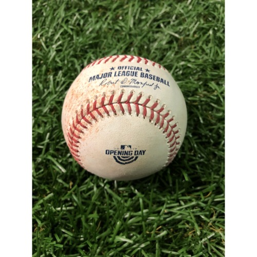 Photo of Opening Day Game-Used Baseball: Tyler White single off Jalen Beeks - March 28, 2019 v HOU