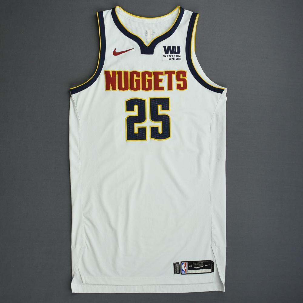 Malik Beasley - Denver Nuggets - 2019 NBA Playoffs - Game-Worn White Association Edition Jersey