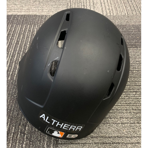 Photo of 2019 Team Issued Broken Batting Helmet - #8 Aaron Altherr - Size 7 3/8